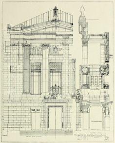 Construction Plan Details For The Museum Of Fine Arts Boston Architecture BlueprintsArchitecture