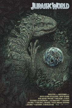 The story is based on a dinosaur which is created at Jurassic World, which is a theme park, located on an island, called Isla Nublar, which was the site of the original Jurassic Park. The Jurassic World contain so many species of Dinosaurs' clones. Jurassic World Poster, Jurassic World Park, Jurassic Park Series, Michael Crichton, Jurrassic Park, Park Art, Science Fiction, Jurassic Park Wallpaper, The Lost World