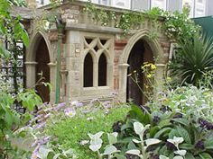 Reclaimed and reproduction garden artifacts to complement the Gothic Folly garden, including old stone troughs, reclaimed teak furniture, period stone flooring, reclaimed bricks and many more rusting relics.