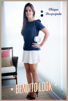 Bendito Look #benditolook #lookdodia #lookoftheday #fashion #moda #style #estilo #white #skirt #saia #branca