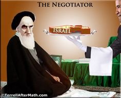 OBAMA CARTOONS: Serving up Israel on a Silver Platter io Iran