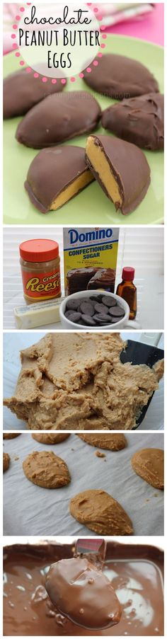 Easy to make, yummy, and healthier than a typical Peanut Butter Chocolate egg you buy from the store!