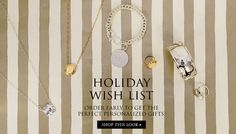 Holiday Wish List: order early to get the perfect personalized gifts! | jewelboxnline.com