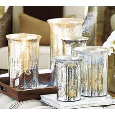 Mercury Glass Hurricanes