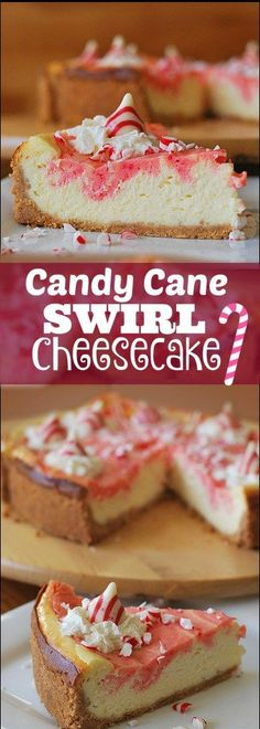 This Candy Cane Swirl Cheesecake is our ALL TIME FAVORITE Christmas dessert and it is a SHOW STOPPER!