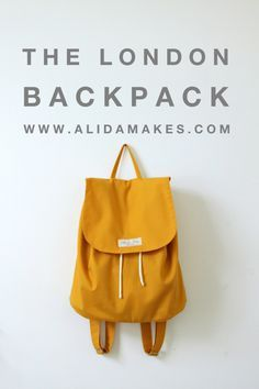 The London Backpack | made by Alida Makes | pattern by lbgstudio for willow & co patterns