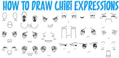 We have made up a huge guide to drawing Chibi expressions and emotions. It is super easy to do and I know that you will be able to draw these Chibi facial expressions with ease. Just follow along with the simple steps and you will be set. There are also step by step illustrations for drawing Chibi eyes, so this will help you with eyes as well. Happy Drawing!