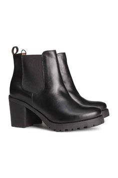 Bottines en cuir | H&M