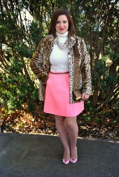 Pink, cream, leopard, and floral. Spring is calling! http://akstylemyway.blogspot.com/