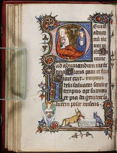 Pretty medieval manuscript of the day is a nativity, featuring Joseph, because today is his feast day