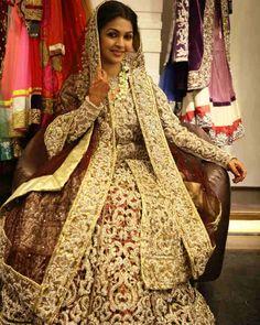 75 Lakh #Indian #Bridal #Lehnga for TV Serial Sequence on #Sony 's Desh Ki Beti Nandini! #Bollywood #Hindi #IndianBride