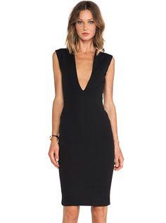 Black Sleeveless Deep V Neck Backless Dress - Sheinside.com