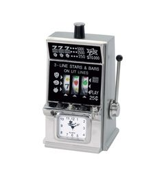 A fun gift for Dad! #FathersDay #gifts -- SLOT MACHINE CLOCK.