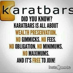 KARATBARS is all about Wealth Preservation...Join TODAY at: https://karatbars.com/?s=deborahbrandon