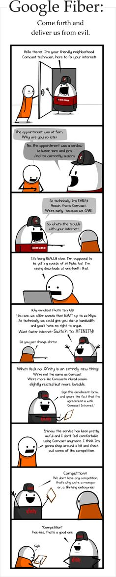 The Oatmeal speaks out on Comcast merger with Time Warner Social Media Humor, Time Warner, Geek Out, What Is Like, The Funny, Ogden Nash, Customer Service, Funny Stuff, Hilarious