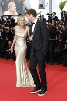 Diane Kruger and Joshua Jackson at Cannes.