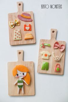 Who would have thought? Instead of Paper Dolls... Food Dolls...? Bento Monsters. :D