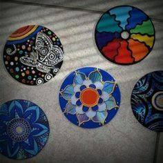 Old cds how to prep for painting http://www.ehow.com/how_7731031_paint-cd-decor.html