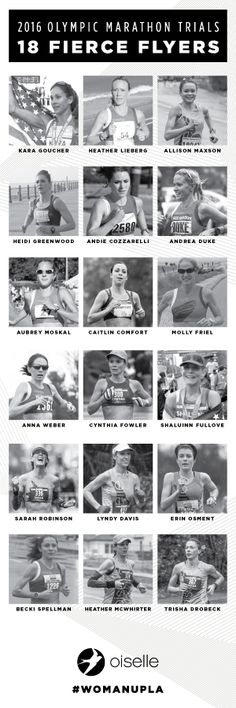 These women! 18 fierce flyers from Oiselle qualified for the 2016 Olympic Trials Marathon.