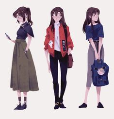 Ideas For Drawing Girl Sketches Character Design Ide. Character Drawing, Character Illustration, Illustration Art, Animation Character, Character Sketches, Chica Anime Manga, Drawing Clothes, Art Reference Poses, Character Design References
