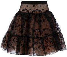 Stars wearing skater skirts | Red Valentino Black Lace Skater Skirt - Celebrities who wear, use, or ...