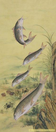 눈물겹도록 눈부신 날들 Korean Painting, Korean Art, Japanese Prints, Japan Art, Fish Art, Aesthetic Art, Coastal, Sketches, Art Prints