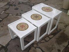 Conjunto de mesinhas - Pátina e Mosaicos