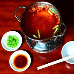Mala Hot Pots are the hallmark of this stylish yet inexpensive restaurant in Arlington's Virginia Square neighborhood from Sichuan Master Chef Liu Chaosheng. Hot Pot, Small Plates, Eat, Chinese, Desserts, Food, Fresh, Tailgate Desserts, Deserts