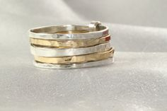 Gold AND Silver RingsSet of 5 14K Gold& Silver Rings by LIRANSHANI