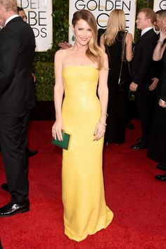 Leslie Mann At Golden Globes 2015
