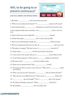 Future tenses interactive activity for 3° year secondary. You can do the exercises online or download the worksheet as pdf. English Grammar Exercises, English Grammar Worksheets, English Resources, English Lessons, All Tenses In English, English Time, Teaching English, Improve English, Learn English