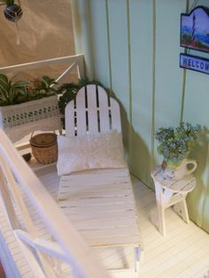 Miniature Shabby Chic Beach House Porch by Michelle Canada