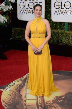 2016 Golden Globes Awards Red Carpet - America Ferrera in Jenny Packham