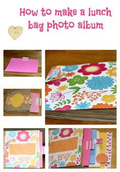 Paper Lunch Bag Photo Album #diy #crafts #babyshower #baby #parents #papercraft #scrapbook