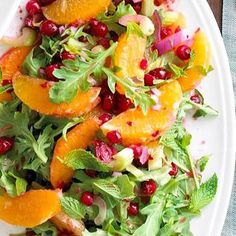 Fresh Citrus and Cranberry Salad #myplate