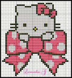 Hello Kitty Bow perler bead pattern