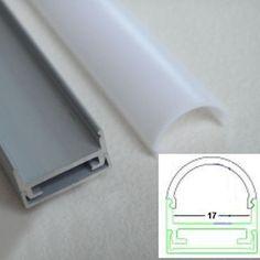 Aluprofil Aluschiene matte runde Abdeckung LED Strips...