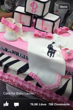 Baby shower cake fit for a princess