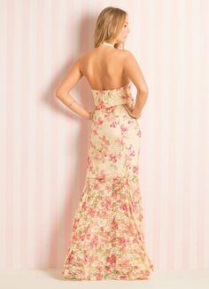 Vestido Longo Frente Única (Floral)