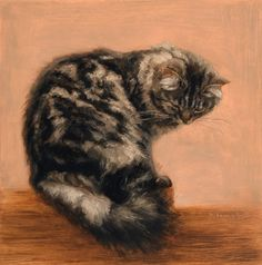 """Candice Bohannon """"Shadow"""" oil on copper 8x8"""""""
