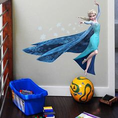 Elsa Disney Frozen Wall Sticker Girls Bedroom 60cm high Great Buy Discounts