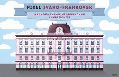 Ivano-Frankovsk in Pixel art