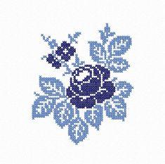 Cross Stitch Tree, Cross Stitch Cards, Cross Stitch Flowers, Cross Stitching, Cross Stitch Embroidery, Cross Stitch Rose Pattern, Rose Embroidery, Flower Embroidery Designs, Machine Embroidery Designs