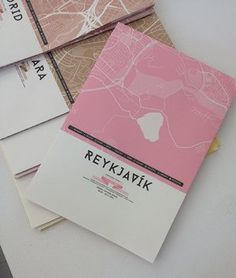 URBAN SHAPE - REYKJAVÍK City Map - folded - The pink version of REYKJAVÍK is the poster for the URBAN SHAPE exhibition at Spark and is made in unlimited edition - ink jet print og munken pure paper - 96 x 66 cm. Signed by the designer.