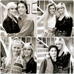 Scott Baio, Nicole Eggert, Josie Davis and Alexander Polinsky with Samantha Fox on the set of Charles in Charge