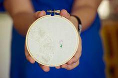 flower hoop art wall art flower embroidery by SentimentalSundays, $15.00
