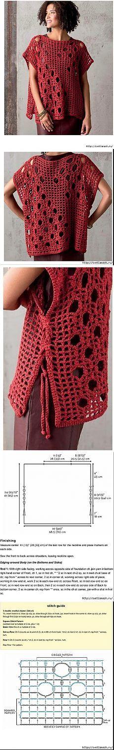 ideas for crochet poncho vest ideas Crochet Lace Dress, Crochet Poncho, Crochet Cardigan, Knit Crochet, Crochet Shrug Pattern Free, Free Pattern, Tunic Pattern, Crochet Fashion, Crochet Clothes