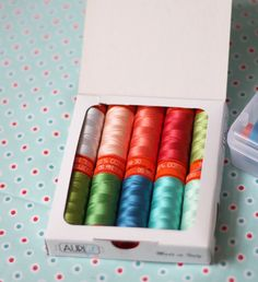 "Allison from Cluck Cluck Sew is happy to announce her new ‪#‎Aurifil‬ collection! The selection of colors by Allison coordinates with her fabric line Hazel for Windham Fabrics. ""It coordinates with my Hazel fabric, and they are also the colors I seem to use in almost every single quilt I make! "" To see more of her lovely collections please visit http://cluckclucksew.com/2015/11/hazel-aurifil-thread.html"