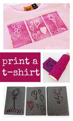 hot to print a t-shirt :: t shirt craft :: cute fashion craft for kids