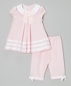 Pink & White Sailor Dress & Capri Pants - Infant & Toddler | Daily deals for moms, babies and kids